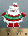 1639 C - Santa Clause - Merry Christmas -  Embroidery Patch