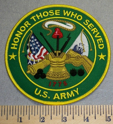 2341 W - Honor Those Who Served - US Army - 5 Inch - Round - Embroidery Patch