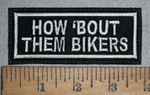 3531 L - How Bout Them Bikers - Embroidery Patch