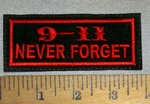 1679 L - 9-11 - NEVER FORGET - RED - Embroidery Patch