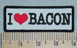 3079 G - I Love Bacon - Red Heart - Embroidery Patch
