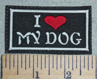 3023 L - I Love My Dog - Red Heart - Embroidery Patch