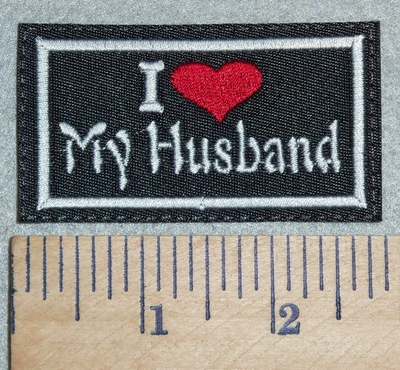 3022 L - I Love My Husband - Red Heart - Embroidery Patch