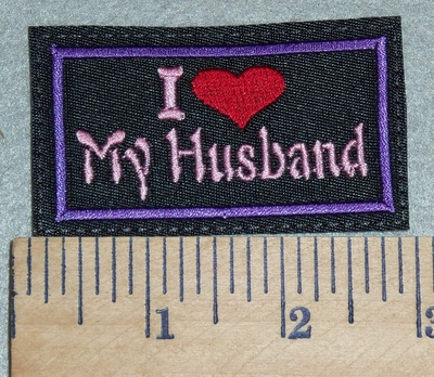 3053 L - I Love My Husband  - Red Heart - Embroidery Patch