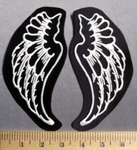 737 L - White Angel Wings -  Embroidery Patch