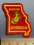 738 L - Show Me - Leathernecks - MC - U.S. Marine Logo -  Embroidery Patch