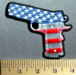 769 CP - American Flag Pistol -  Embroidery Patch