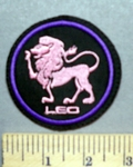 1641 L - Zodiac - Leo - Pink - Embroidery Patch