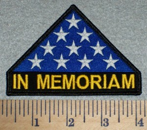 2606 W - In Memoriam - U.S. Honor Folded Flag - Embroidery Patch