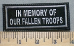 2512 L - In Memory Of Our Fallen Troops - Embroidery Patch