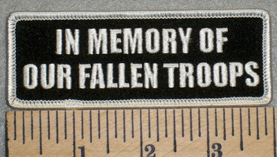 2477 G - In Memory Of Our Fallen Troops - Embroidery Patch