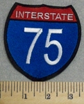 2400 L - Interstate 75 - Embroidery Patch