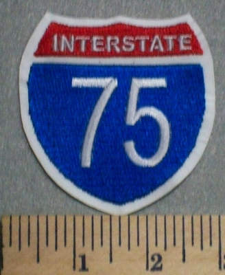 97 L - Interstate 75 - White Background - Embroidery Patch