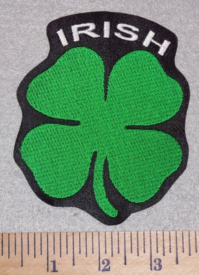 3008 L - Irish With A Four Leaf Clover - Embroidery Patch