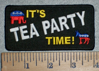 3164 W - It's Tea Party Time - Embroidery Patch