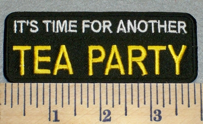 2381 W - It's Time For Another Tea Party - Embroidery Patch