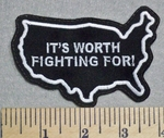 2531 L - It's Worth Fighting For! - Embroidery Patch