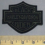 1280 L - Harley Davidson Logo - Black Rider - Embroidery Patch
