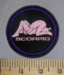 200 L - Scorpio - Zodiac Sign - Sexual Postion - Pink - Embroidery Patch