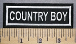 744 L - Country Boy -  Embroidery Patch