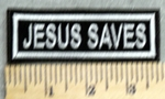 2903 L - Jesus Saves - White - Embroidery Patch