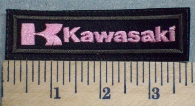 2557 L - Kawasaki - Pink - Embroidery Patch