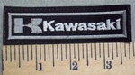 2556 L - Kawasaki - White - Embroidery Patch
