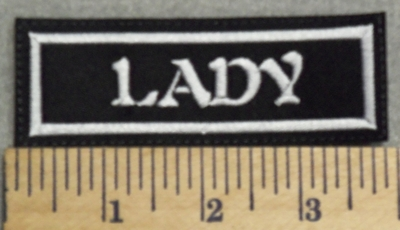 2968 L -  Lady - Embroidery Patch