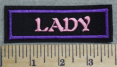 2970 L - Lady - Pink - Embroidery Patch