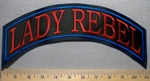 2523 L - Lady Rebel - Top Rocker - Embroidery Patch