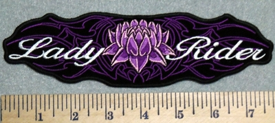 2960 G - Lady Rider - Back Patch - Embroidery Patch