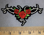 335 S - Celtic Design With Roses - Embroidery Patch