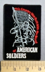 1788 CP - This Country Was Built With The Blood Of American Soldiers - Soldier Carrying American Flag - Embroidery Patch