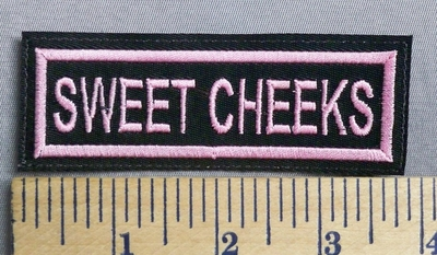 2021 L Sweet Cheeks  - Pink - Embroidery Patch
