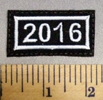333 L - Year Of 2016 - Embroidery Patch