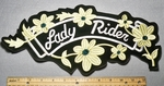 2271 B - Lady Rider With Yellow Daisies - Back Patch - Embroidery Patch