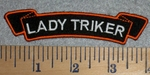 2772 L - Lady Triker Mini Waving Rocker - Embroidery Patch