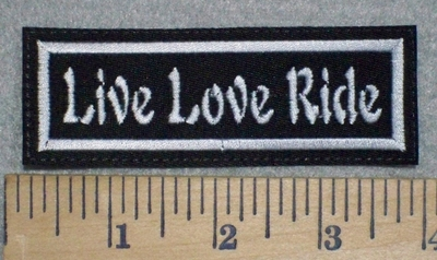 3245 L - Live Love Ride - Embroidery Patch