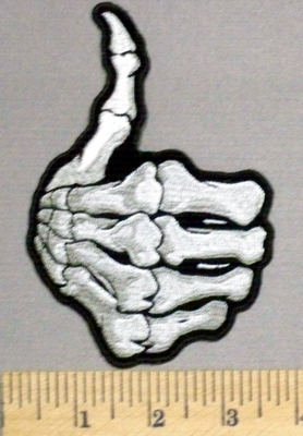 1G - Thumbs Up - Skeleton Hand - Embroidery Patch
