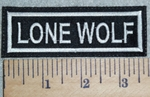 3027 L - Lone Wolf - Embroidery Patch