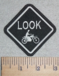 3010 L - LOOK - Motorcyle - Embroidery Patch
