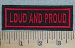 3086 L - Loud And Proud - Red - Embroidery Patch