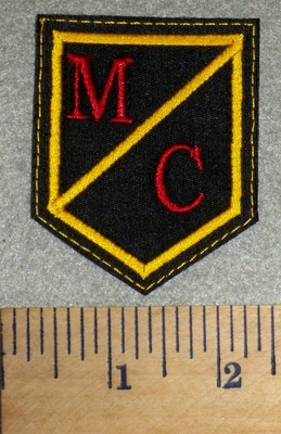 2733 L - M/C Shield - Embroidery Patch