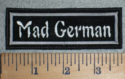 3371 L - Mad German - Embroidery Patch