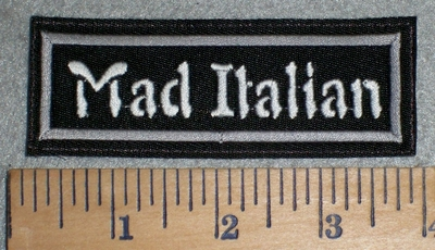 3378 L - Mad Italian - Embroidery Patch
