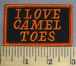 1296 S - I Love Camel Toes - Orange - Embroidery Patch