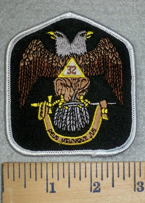 3167 W - Masonic 32 Degrees With Banner - Embroidery Patch