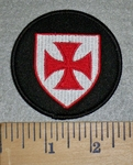 3155 W - Masonic Brand Knights Templar Shield - Embroidery Patch
