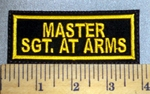 906 L - MAST. SGT. AT ARMS -  Embroidery Patch