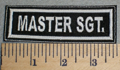 2487 L - Master SGT. - Embroidery Patch